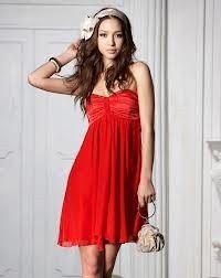 red cute dress