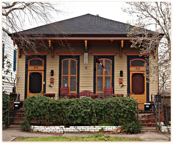Shotgun houses uptown shotgun double new orleans homes for Prefab shotgun house