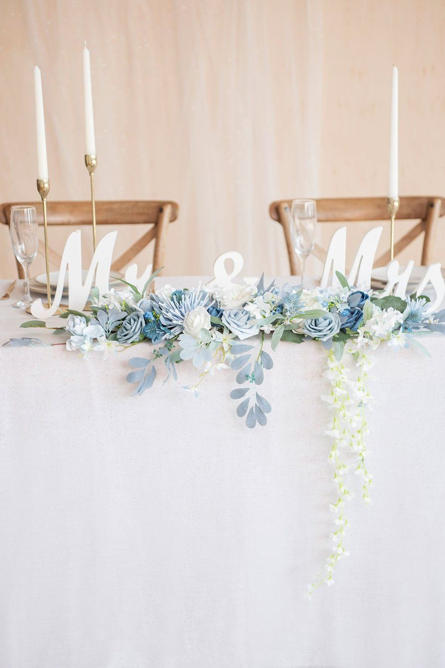 Sweetheart Table Decoration Set - Dusty Blue