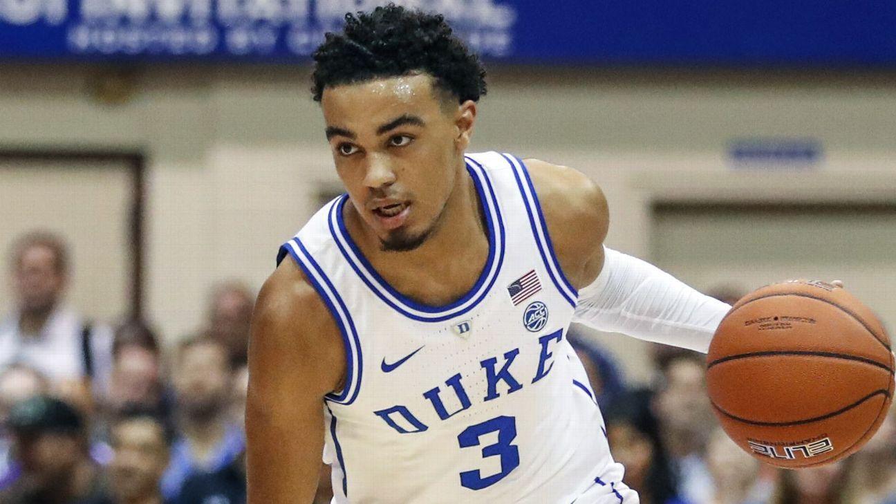 Duke freshman Tre Jones to return next season Duke