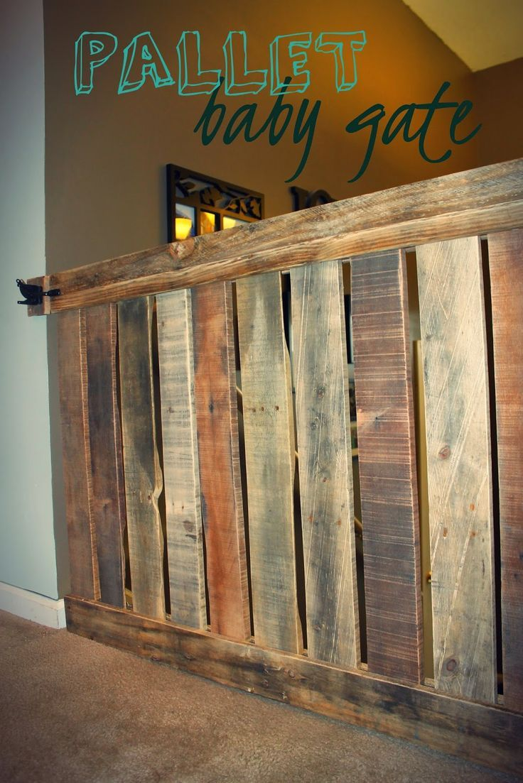The Cutest Baby Gate Ever!   Diy baby gate, Baby gates ...
