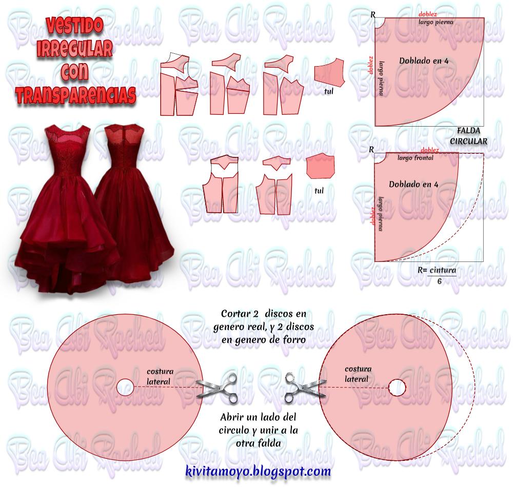 KiVita MoYo : VESTIDO IRREGULAR CON TRANSPARENCIAS | Patterns ...