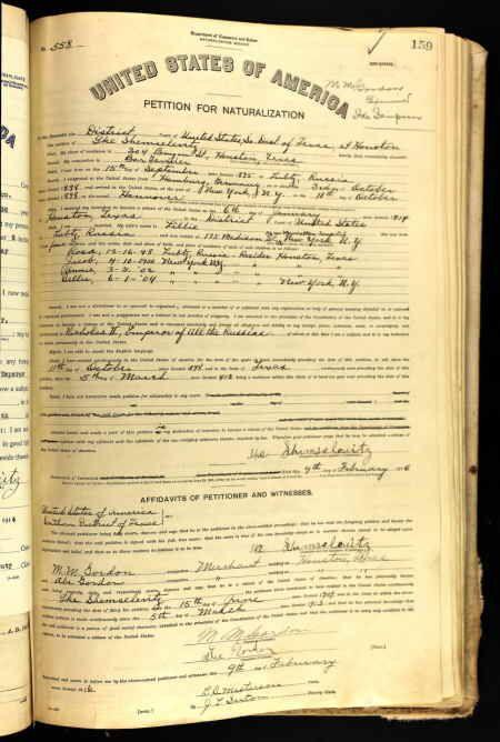 Ike Shemselevitz Age: 40 Birth Date: 15 Sep 1875 Birth Place: Lubtz,