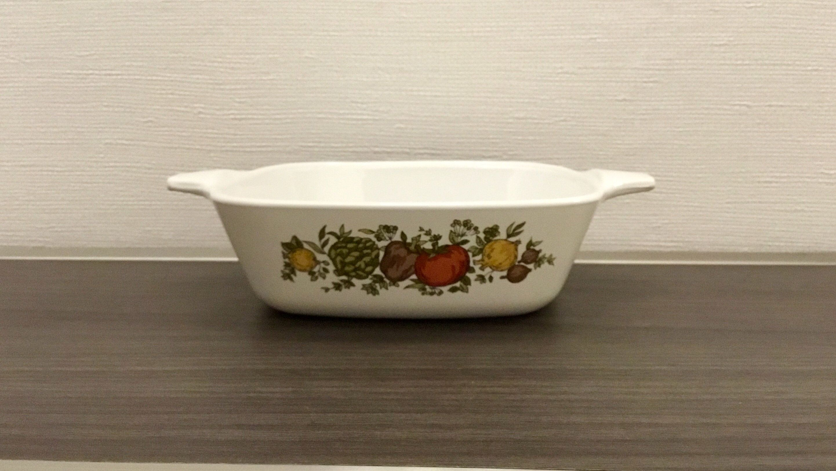 Range Made in USA Oven A-3-B Microwave 3 QuartLiter Spice of Life Corning Ware Casserole Dish with Clear Glass Lid