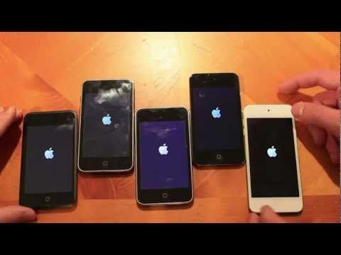 A comparison of all generations of iPod Touch including the