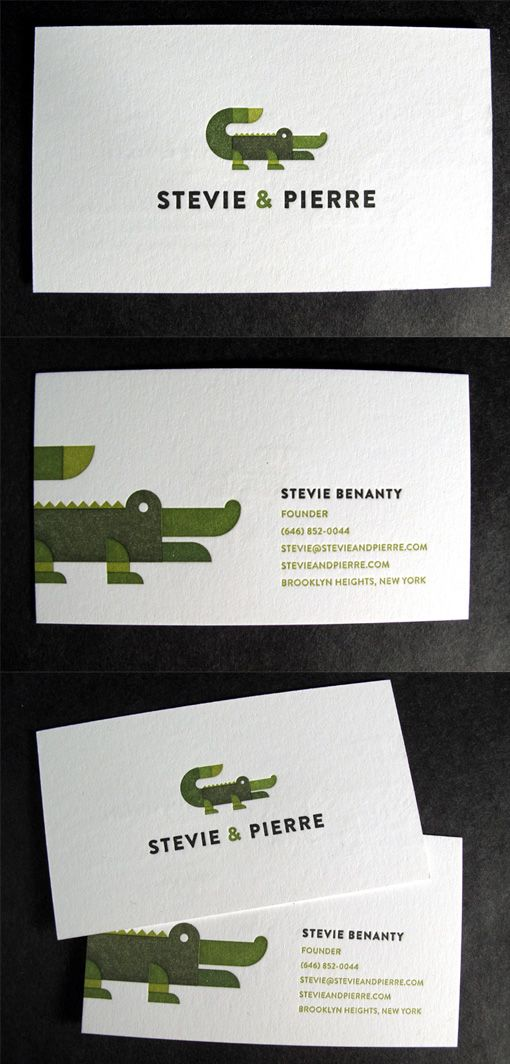 Quirky Letterpress Business Card Design For A Brand Agency ...
