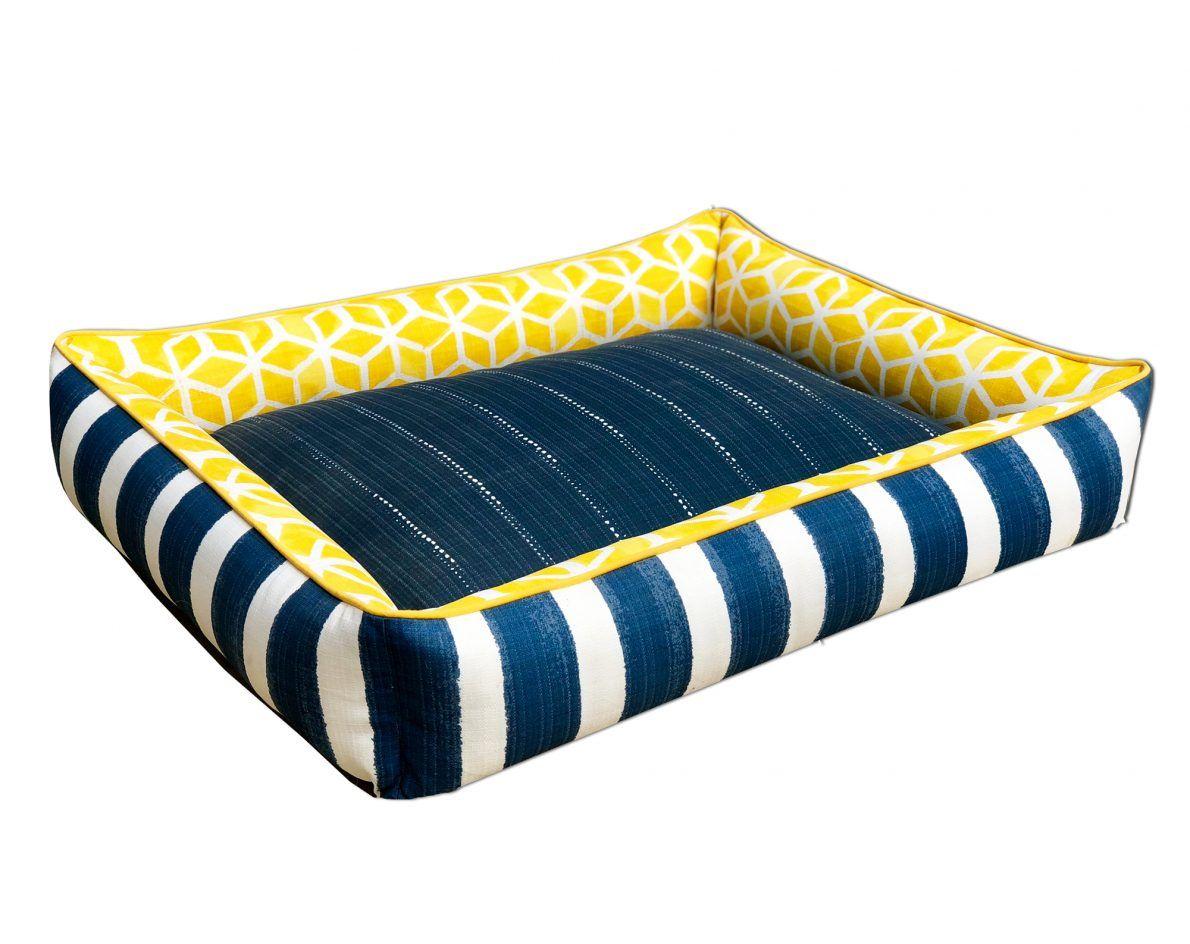 Pineapple Poolside Dog sofa bed, Custom pet bed, Make
