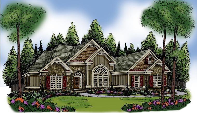 Ranch House Plan chp-54282 at COOLhouseplans.com