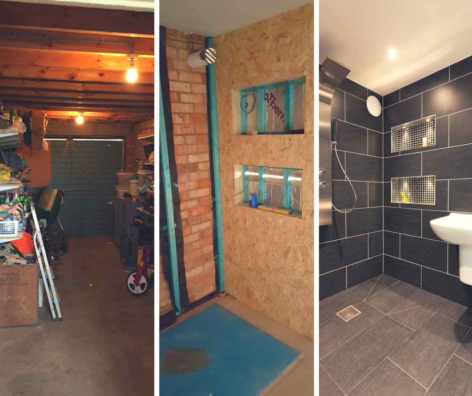 Garage Conversion By Parker Home. Garage To Wetroom (With