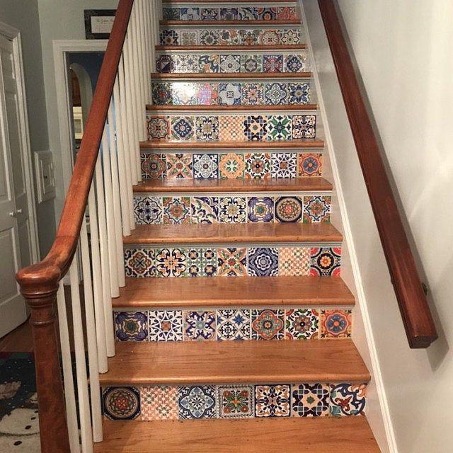 Stockholm Grey Floor Kitchen Bathroom Vinyl Tile Decal Peel Etsy In 2020 Flooring For Stairs Bathroom Vinyl Tile Decals