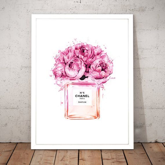 70e08c71df30 image 0 Chanel No 5, Coco Chanel, Chanel Print, Fashion Wall Art,