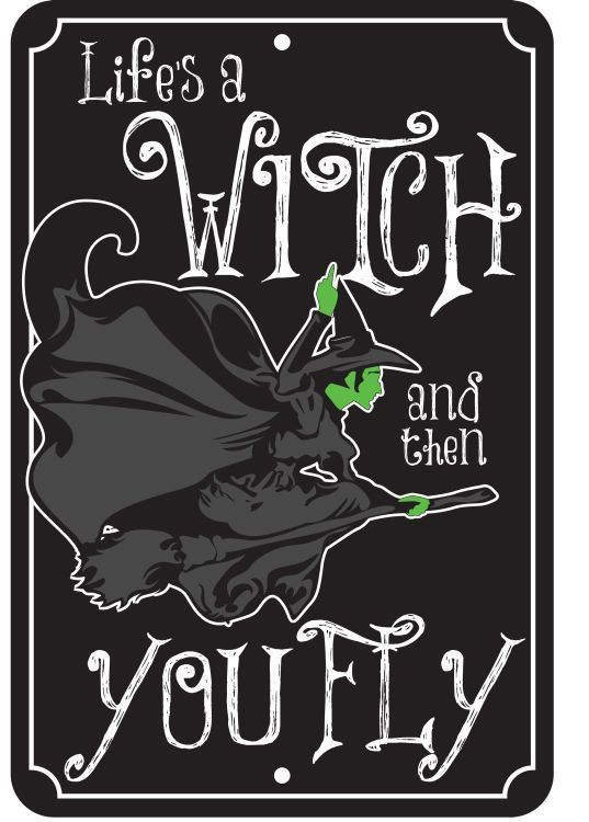 Wicked Witch Metal License Plate