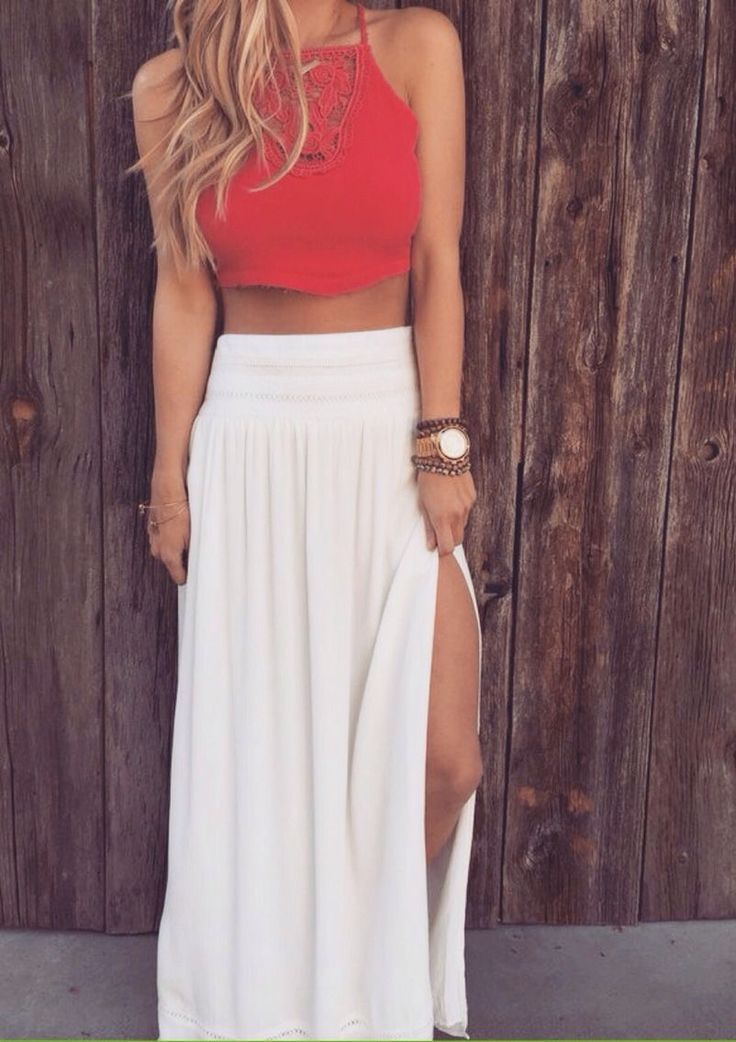 awesome Cinching waist on the skirt versus the flowy top is ...