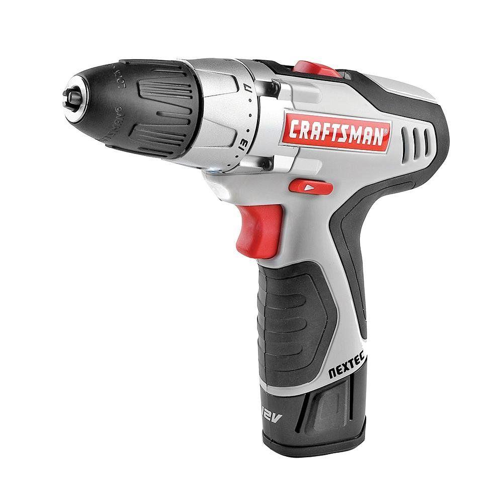 Craftsman Nextec 12 Volt Compact Drill Driver In 2020 Compact Drill Drill Driver Cordless Drill