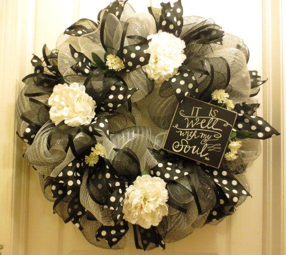 It Is Well Wreath/Christian Wreath/Inspirational Wreath