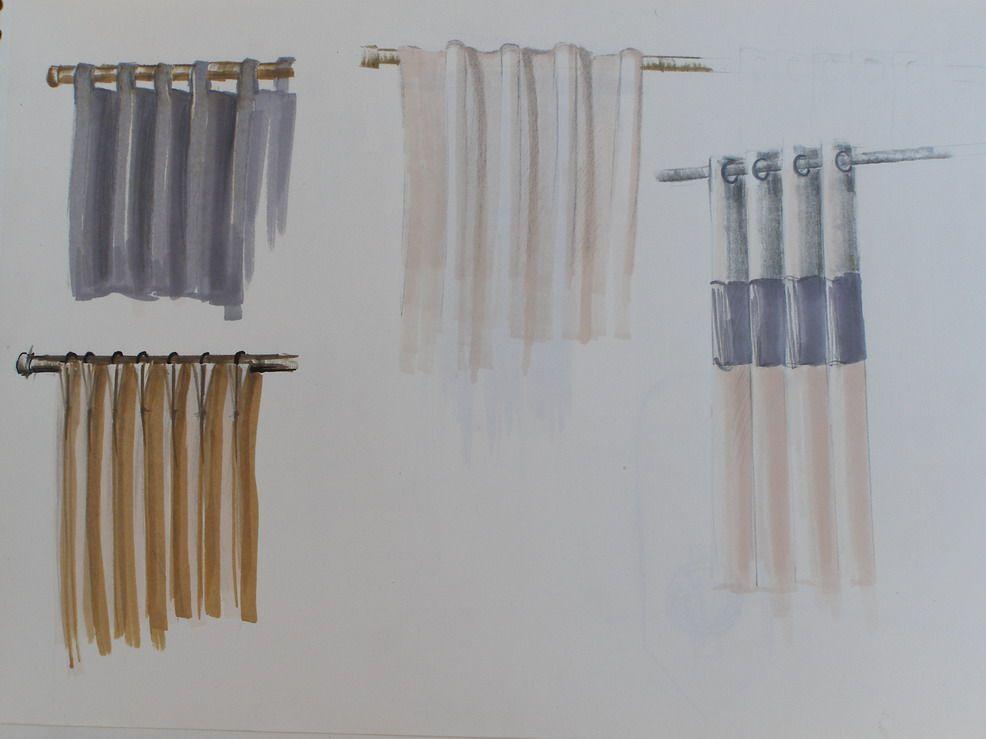 R sultats de recherche d 39 images pour dessins de rideau habillage de fenetre rideaux - Habillage fenetre cuisine ...