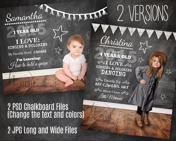 Chalkboard Invitation Template   Free Psd Vector Eps Ai