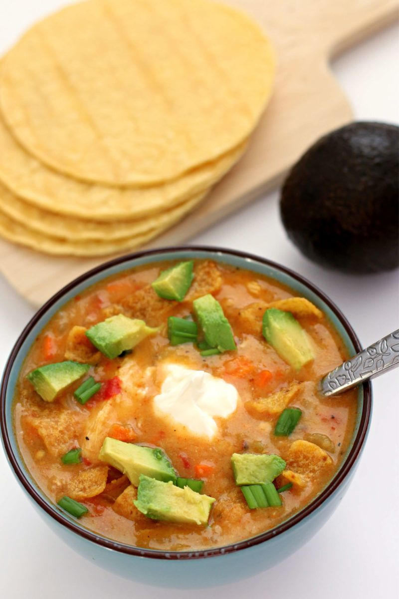 Instant Pot Chicken Tortilla Soup (with actual tortillas!) - 365 Days of Slow Cooking and Pressure Cooking
