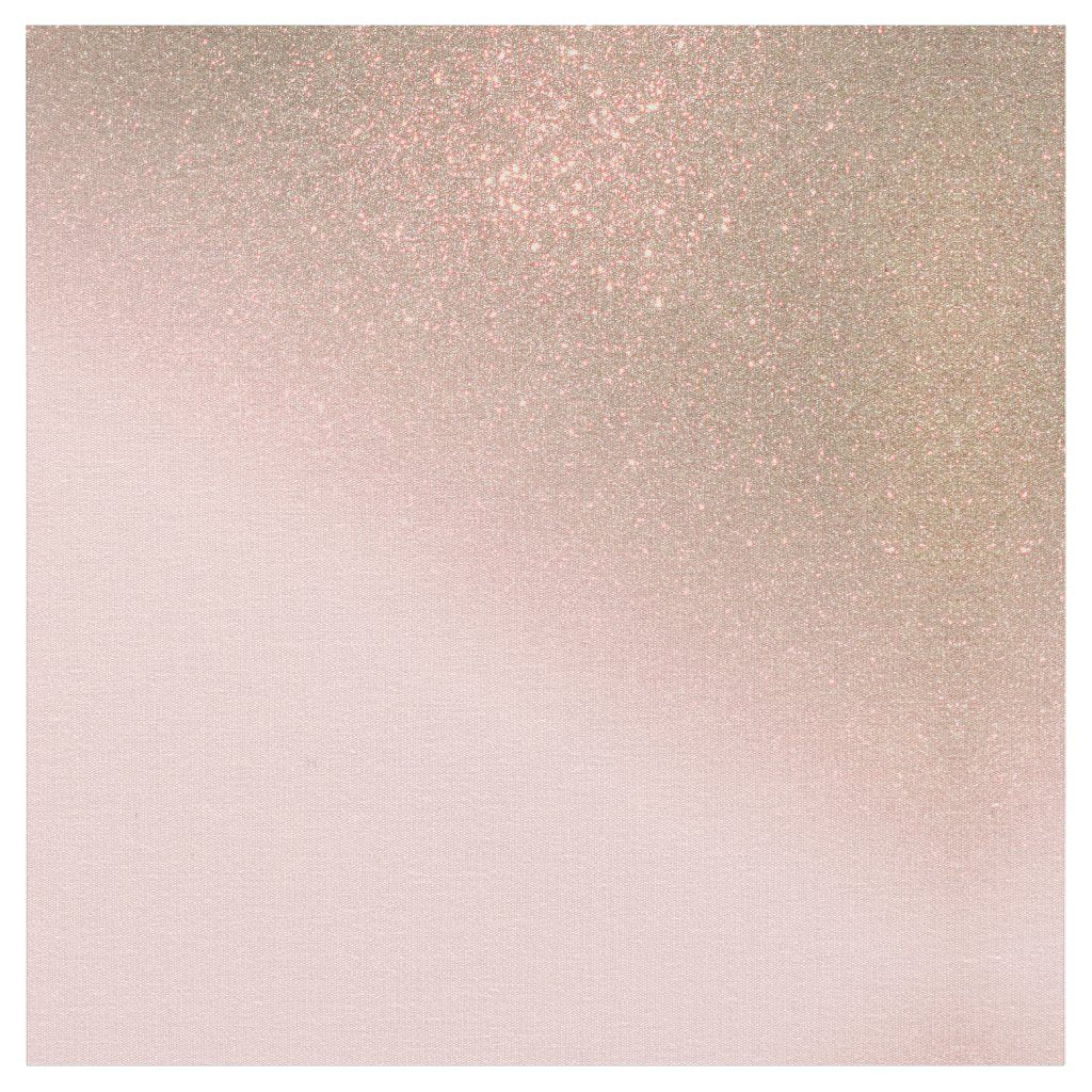 Girly Diagonal Gold Blush Pink Ombre Gradient Fabric