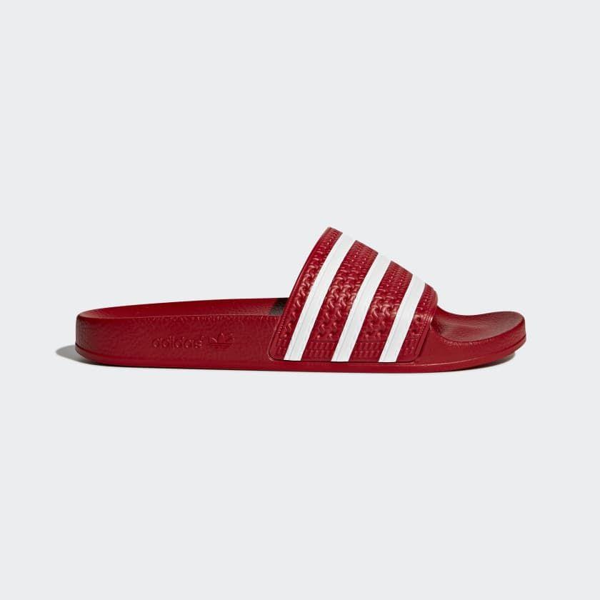 Adidas Adilette Slippers rood maat 41 | Adidas, Stijlen