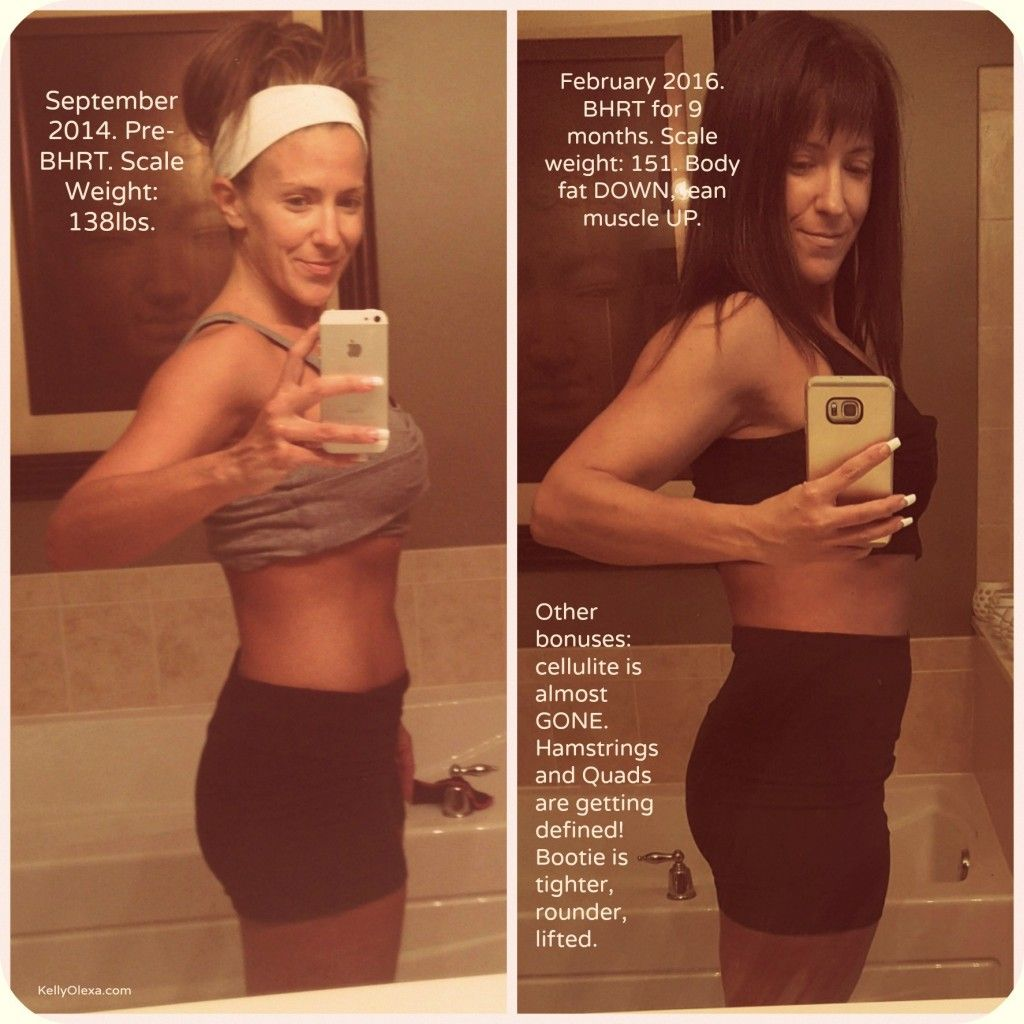 Before and After Pictures Show Hormonal Balance is an EPIC THING.via Kelly Olexa blog -- Fat vs. Muscle