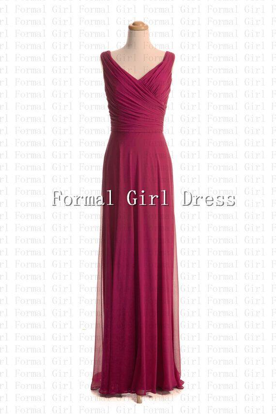Strap V-neck Red Sleeveless Ruffles Zipper Long Chiffon Dress ...