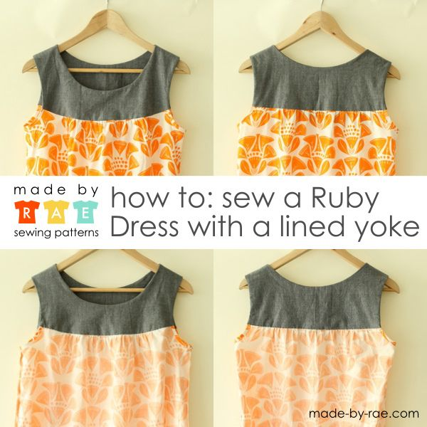 How to Sew a Ruby Dress with a lined yoke by madebyrae, via Flickr