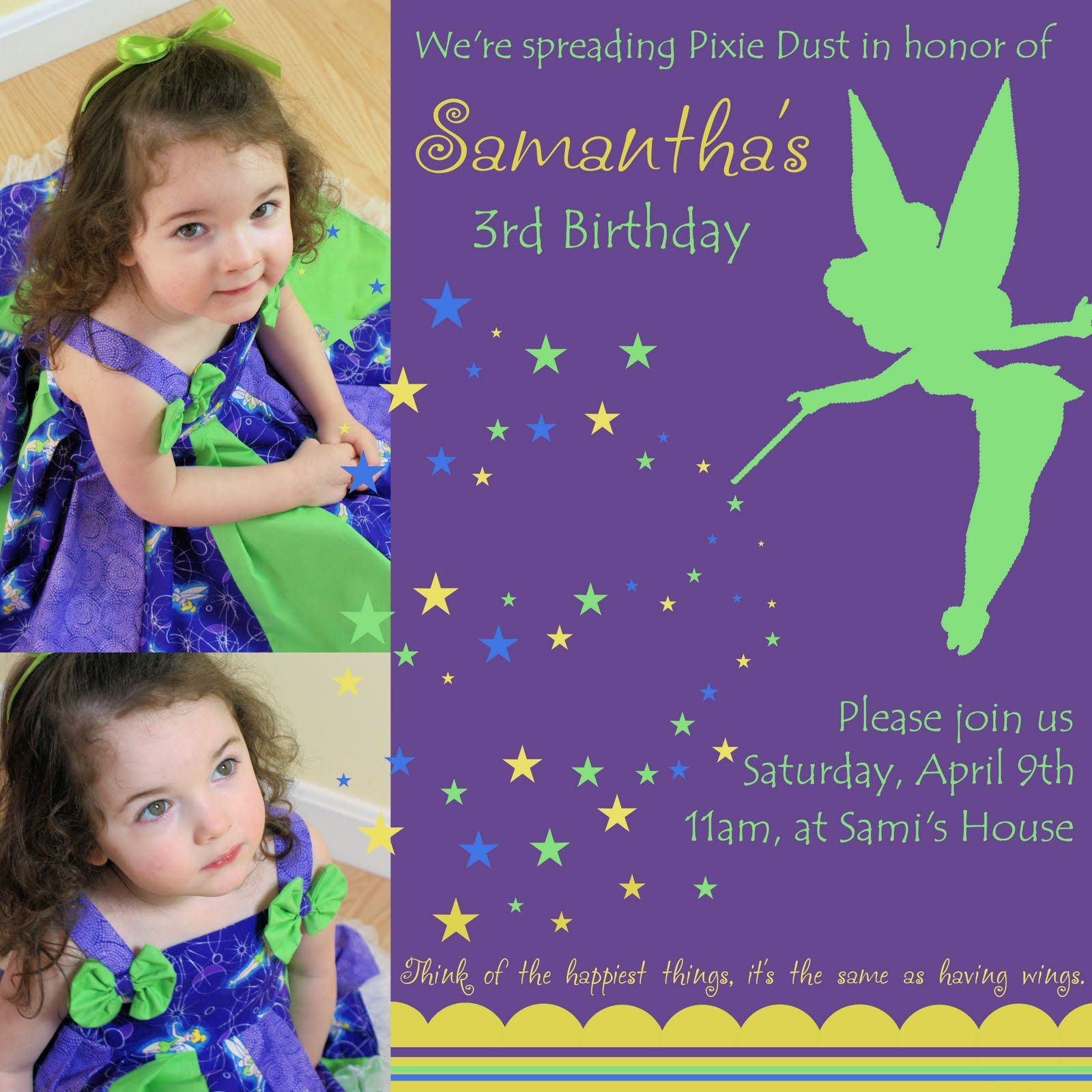 Tinkerbell Birthday Party Ideas The Purple Patch Tinker Bell