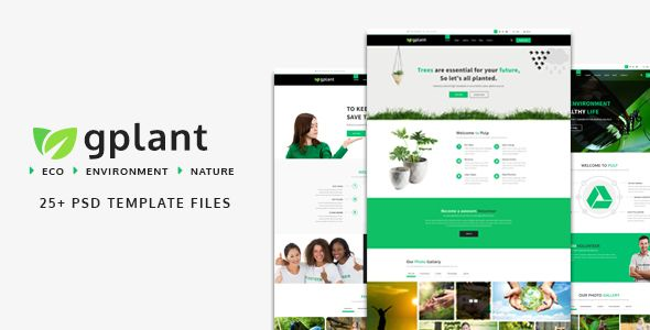 gPlant - Multipurpose ECO, Natural \ Environmental PSD Template - profit template