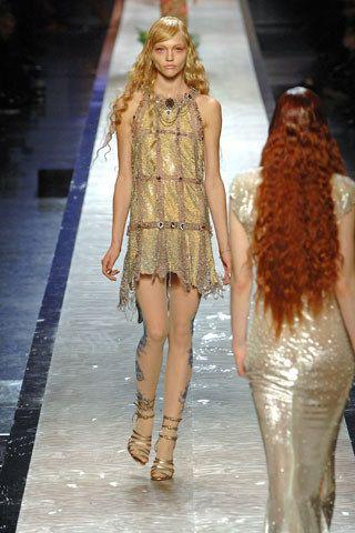 Jean Paul Gaultier Spring 2008 Couture Fashion Show - Sasha Pivovarova