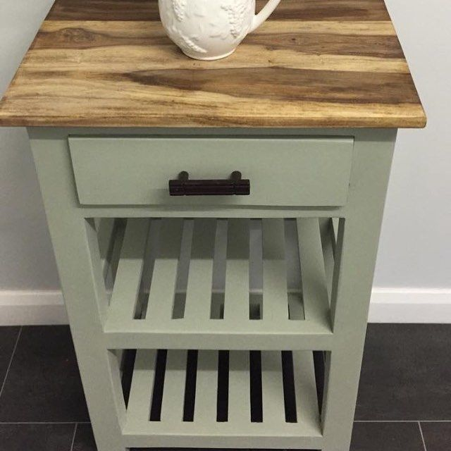 """Joanne's Shabby But Chic on Instagram: """"Butchers block#frenchicpaint #frenchicwiseoldsage #butchersblock #naturalwood #osmo #painting #chalkpaintedfurniture"""""""