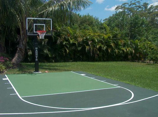 Half-Court Basketball Dimensions Concrete | Basketball ...