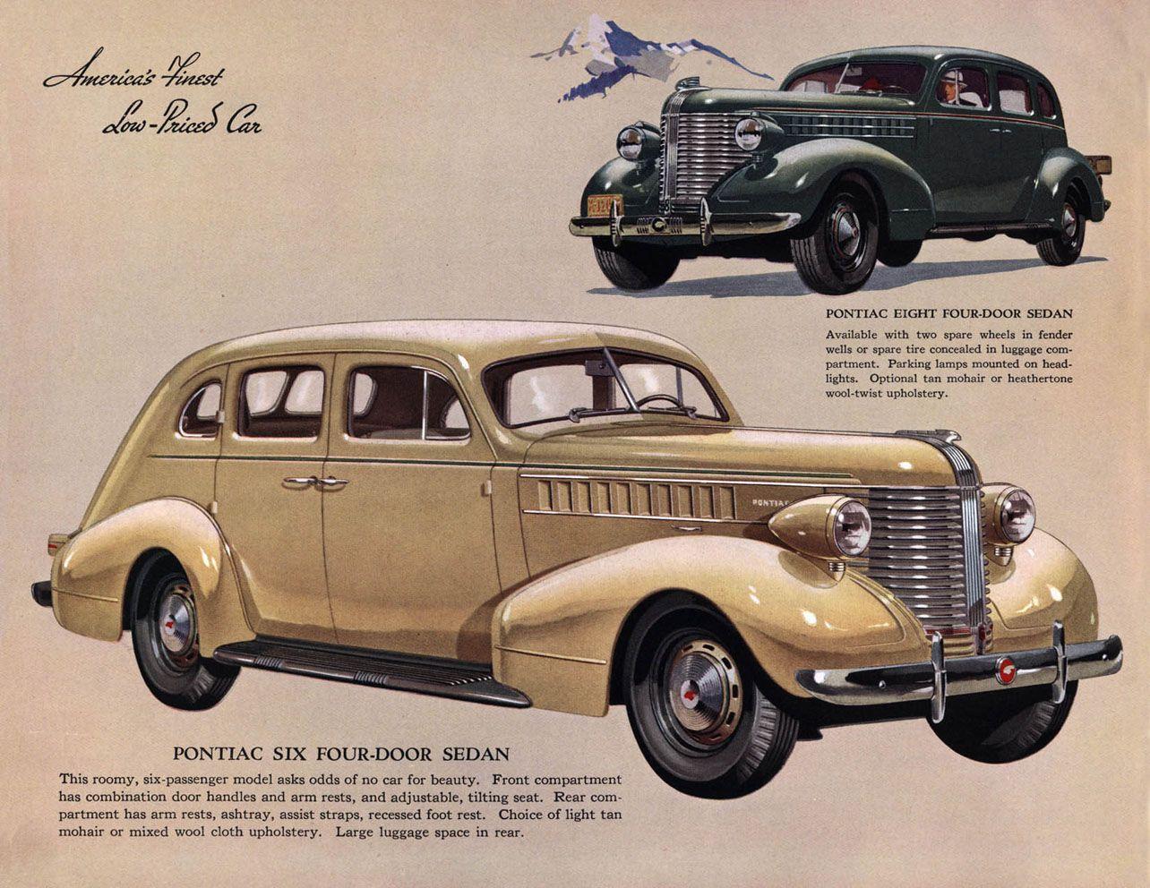 vintage car door handles. 1938 Pontiac Six And Eight Four-Door Sedans Vintage Car Door Handles Y