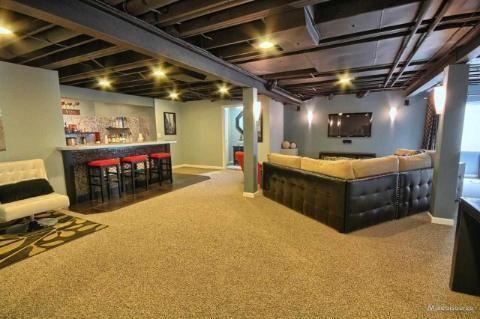 spray ceiling black basement pinterest ceilings sprays and