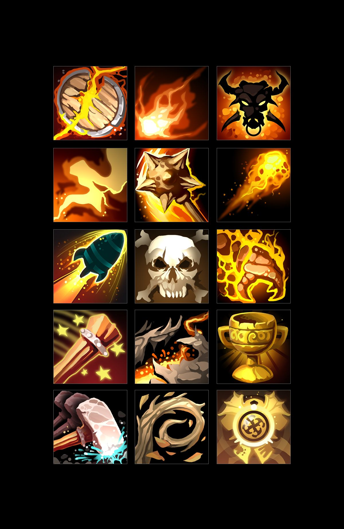 Rpg Skills Icons 04 Icon Weapon Concept Art Game Icon