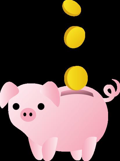 Comic Entrepreneur S Piggy Bank Forgotten Startup Costs Piggy Bank Free Clip Art Cute Food Art