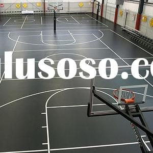 Indoor basketball court sports vinyl floor indoor for Indoor basketball court flooring cost