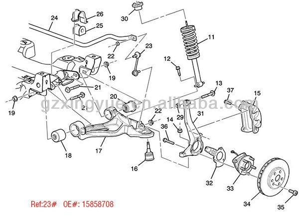 2003 cadillac cts front suspension diagram