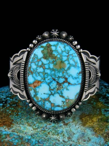 Photo of Native American Kingman Turquoise Cuff Bracelet