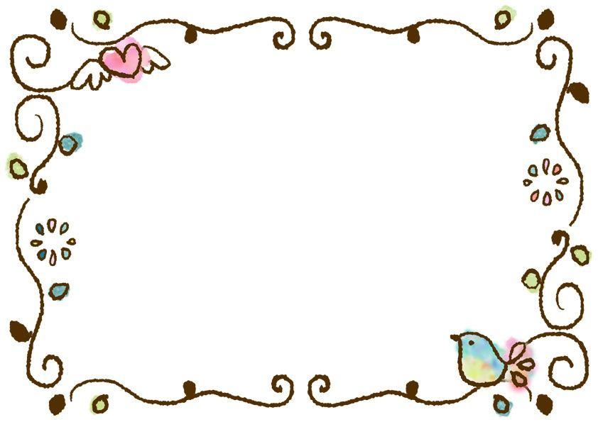 イラストボックス 小鳥 イラスト 手作りカード デザイン フレーム かわいい