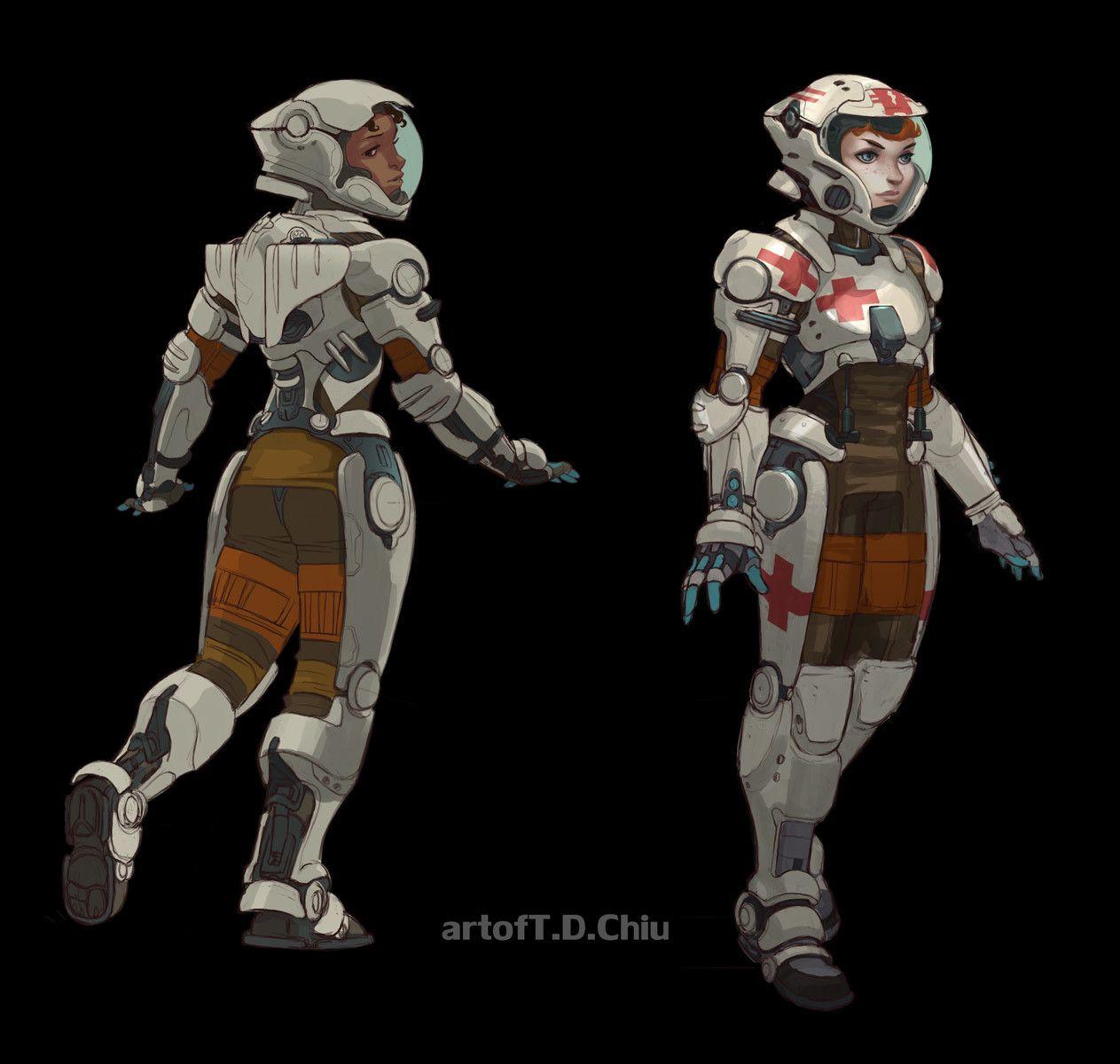 ArtStation - Space Medic proj., T.D. Chiu | Sci fi concept art, Character  design, Concept art characters