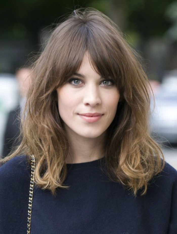 Searches For Curtain Bangs Are Up 600 On Pinterest Here S Why Long Face Hairstyles Alexa Chung Hair Alexa Chung Haircut
