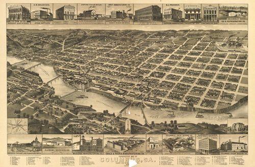 Historic Map Of Columbus Ga 1886 Www Worldmapsonline