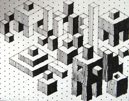 Isometric Cuboids This would be an easy lesson for subs w/graph
