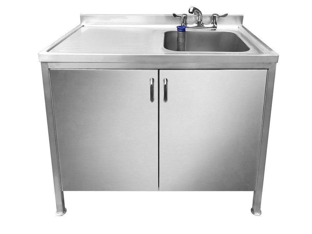 Magna Stainless Steel Catering Sink With Cupboard Left Hand