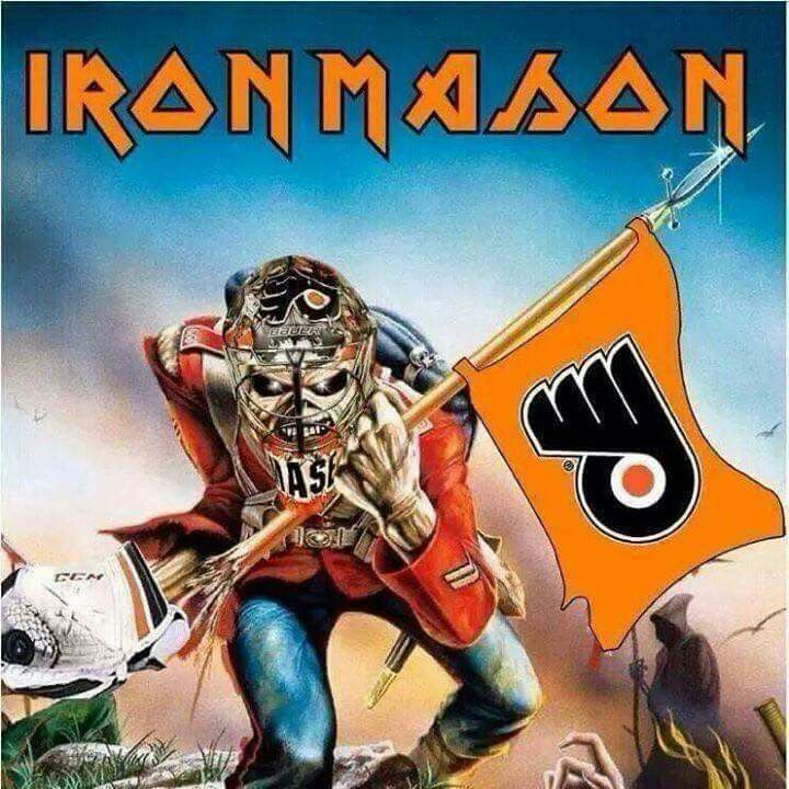 new styles fd6db 64d07 Iron man Mason! | Philadelphia Flyers | Iron maiden posters ...