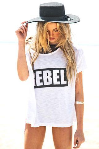 Rebel Graphic Tee - White