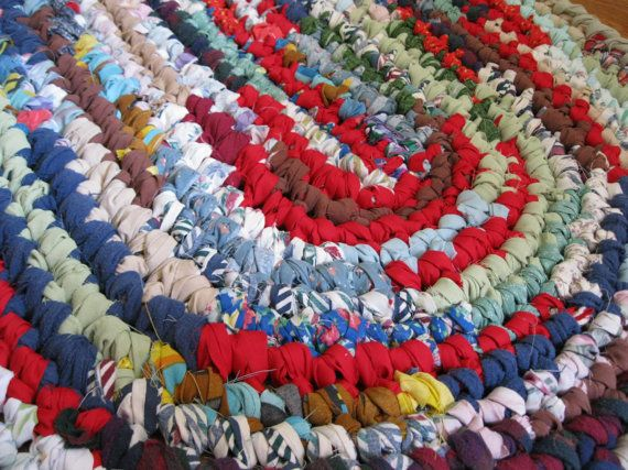Rag Rug Oval Handcrafted Crochet Rustic Cabin By Theragrugbug