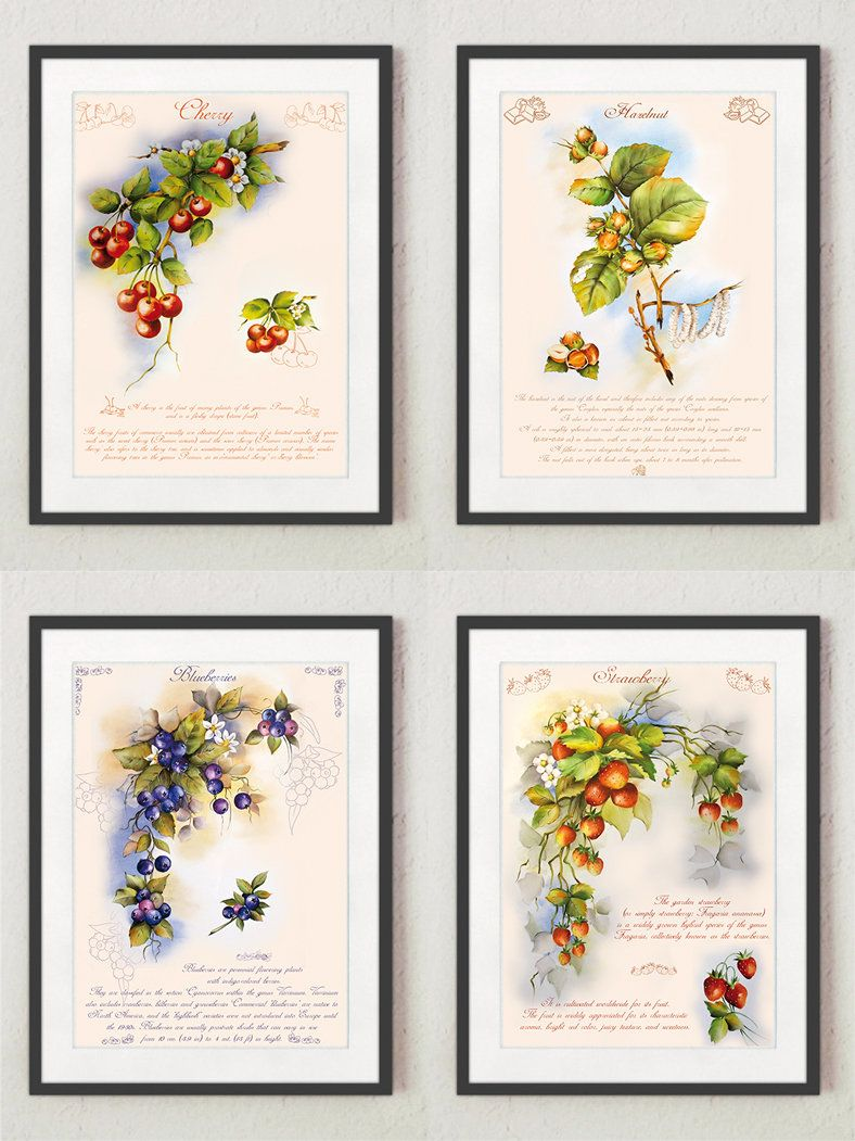 kitchen decor, wall art, fruit wall art, kitchen print, digital ...
