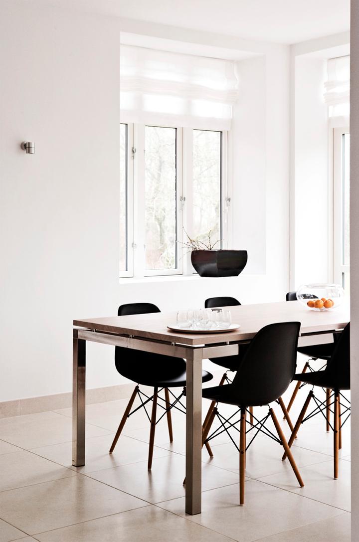 Beautiful White Walls + Black Eames DSW Chair Ideas